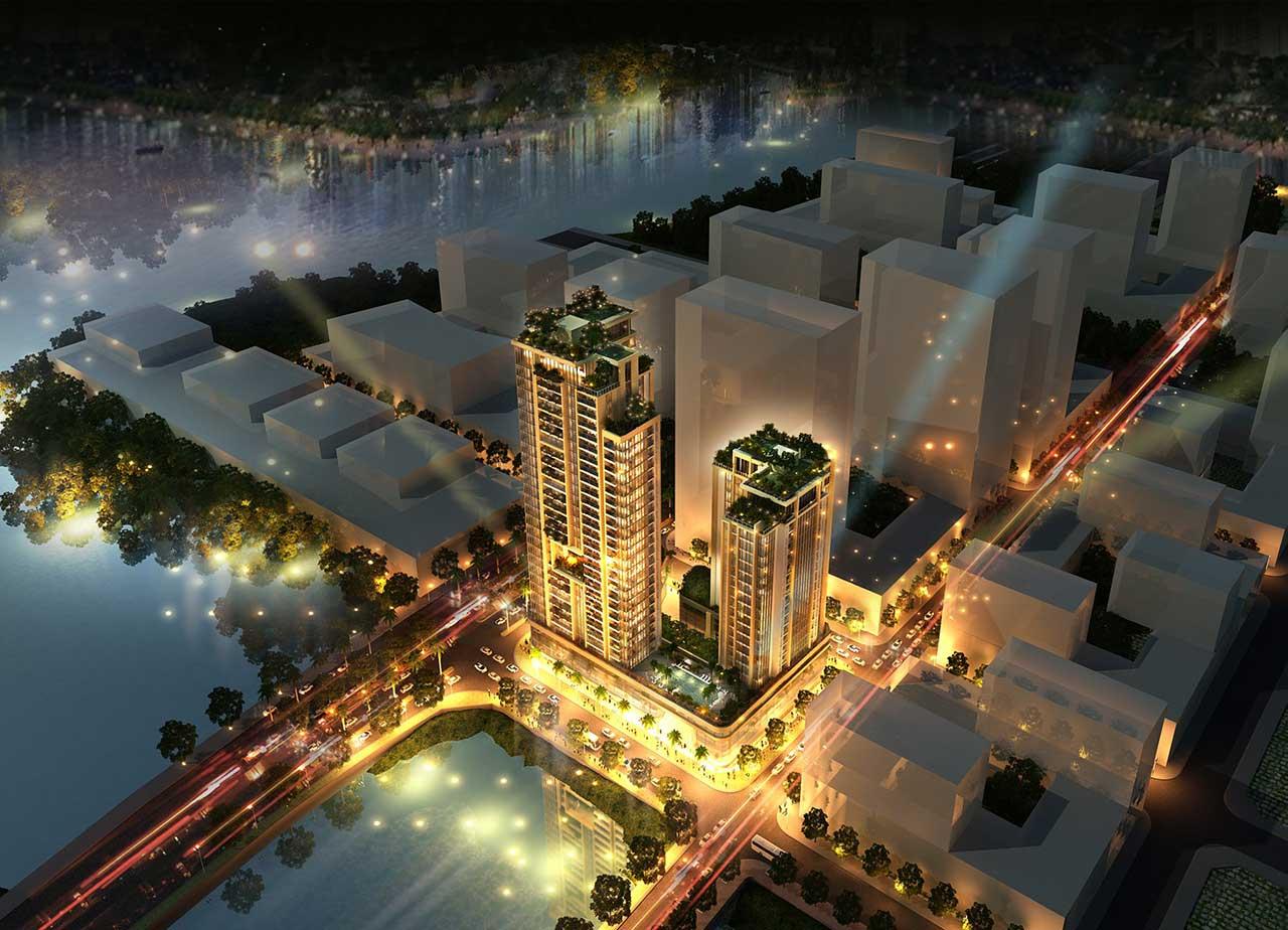 Phối cảnh dự án Riverfront Residences