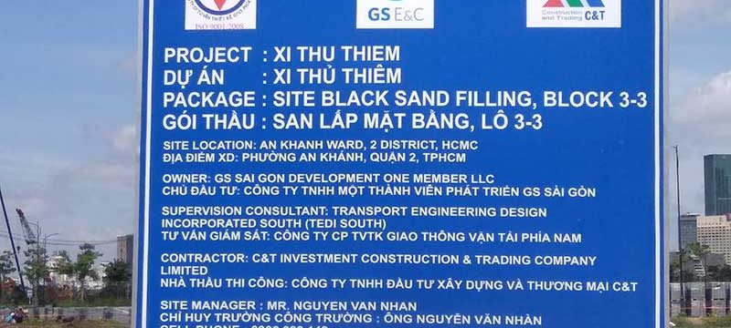 Tiến độ xây dựng Xi Thủ Thiêm tháng 6-2018