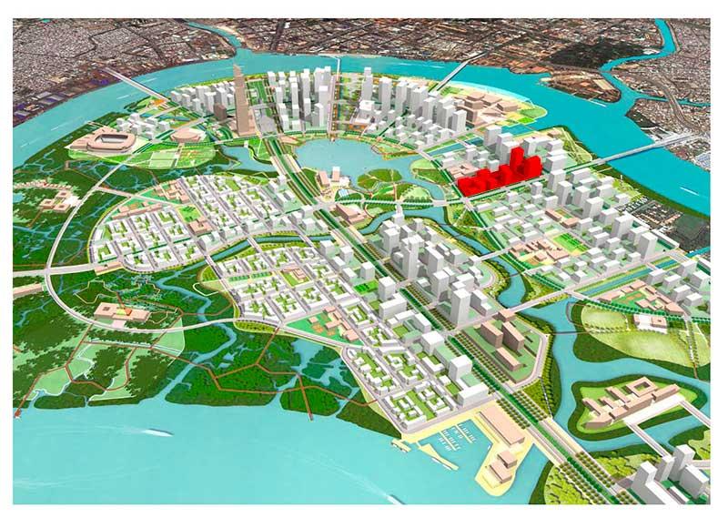 Vị trí dự án Xi Thủ Thiêm ở đâu?