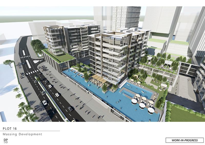 Hình 3D Shophouse Metropole Thủ Thiêm